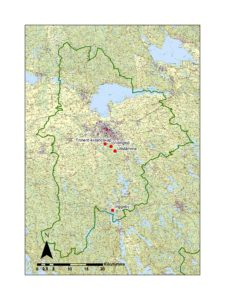 Karta över områden i Linköpings kommun